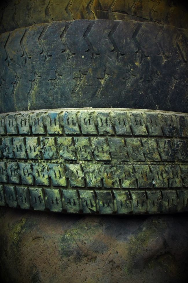 Flat Tired Car Inspection Close-up Day Flat Highprofile No People Pile Profile Picture Repetition Stacked Surface Level The Way Forward Tyres Variations On The Same Theme Weathered Worn Out