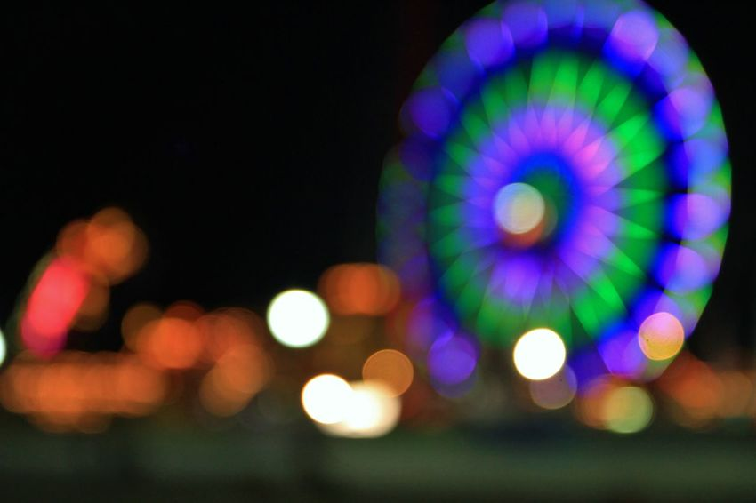 Abstract Amusment Park Backgrounds Boardwalk Bokeh Circle Colorful Eric Barnes Photography Farris Wheel Illuminated Multi Colored Ocean City Md Pattern Softness Photography In Motion The Essence Of Summer