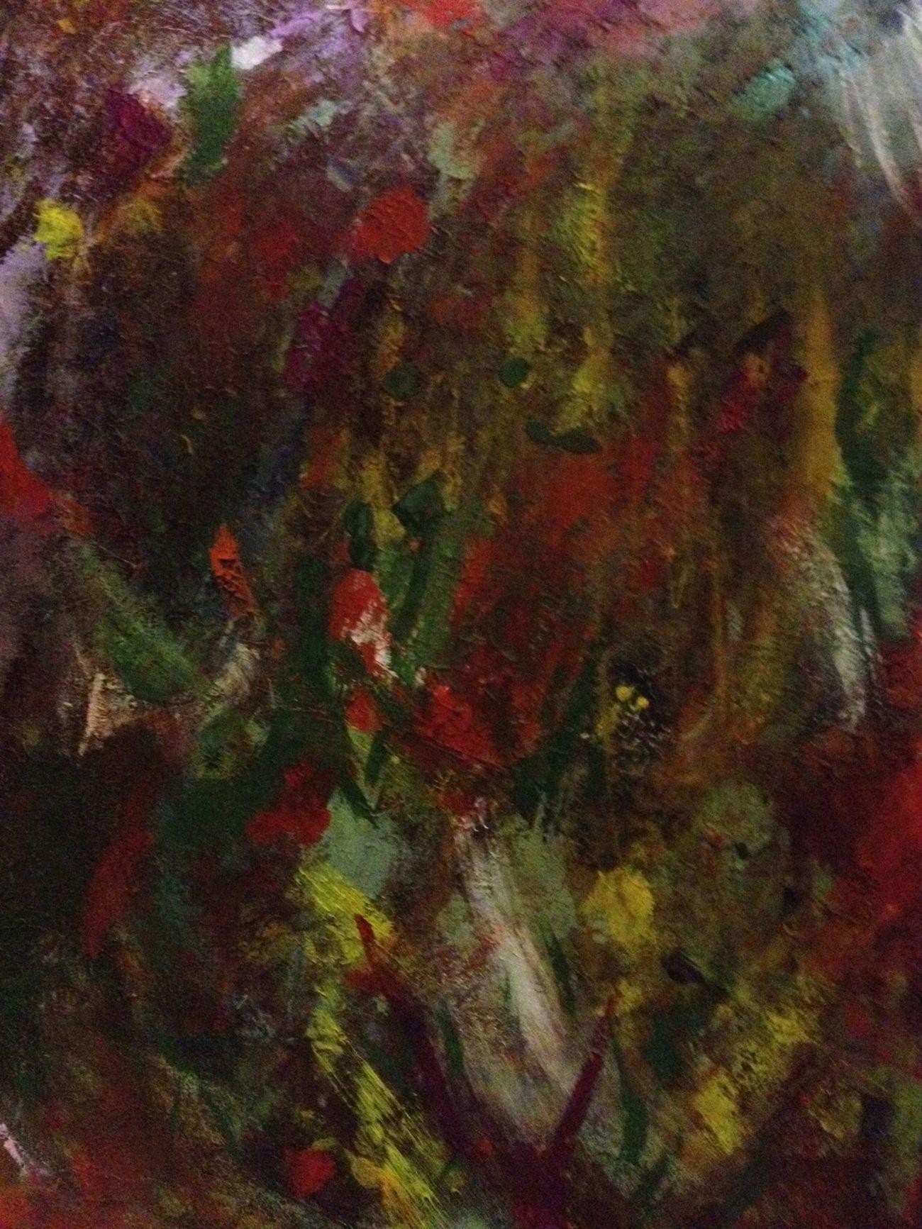 Art Abstract Impasto Colour