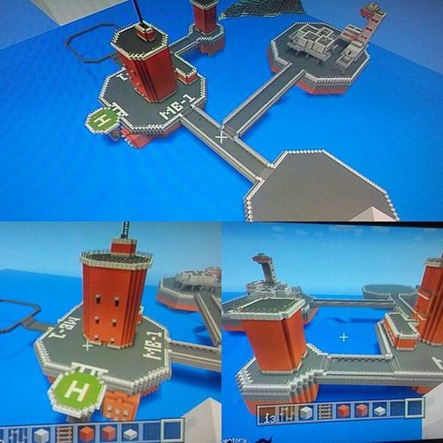 Playing minecraft and working on a new project with my bros @every_thing_awsome and @daniel_feliciano1415 and were building our very own motherbase from metal gear solid and im very very pleased with our progress Metalgearsolid Motherbase Minecraft Playstation3 Psn Creationmode Nerd Gamer Mojang Kojima Bigshell Videogames Fun Geek Project