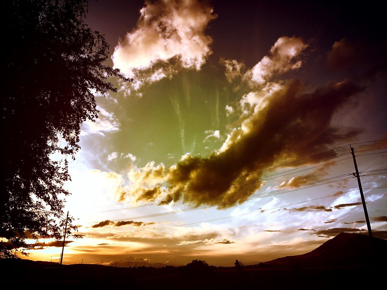 Sky Nature Silhouette Sunset Cloud - Sky No People Beauty In Nature Scenics Tranquil Scene Tree Tranquility Outdoors Low Angle View Day