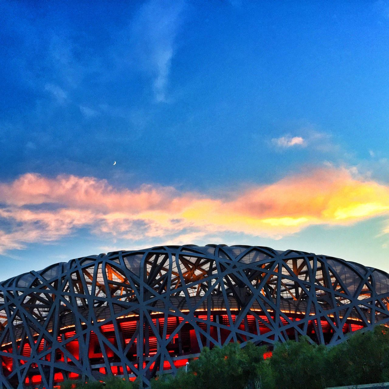 Beijing Sunset Cloud - Sky Built Structure Outdoors Architecture Olympic From iPhone6 Plus