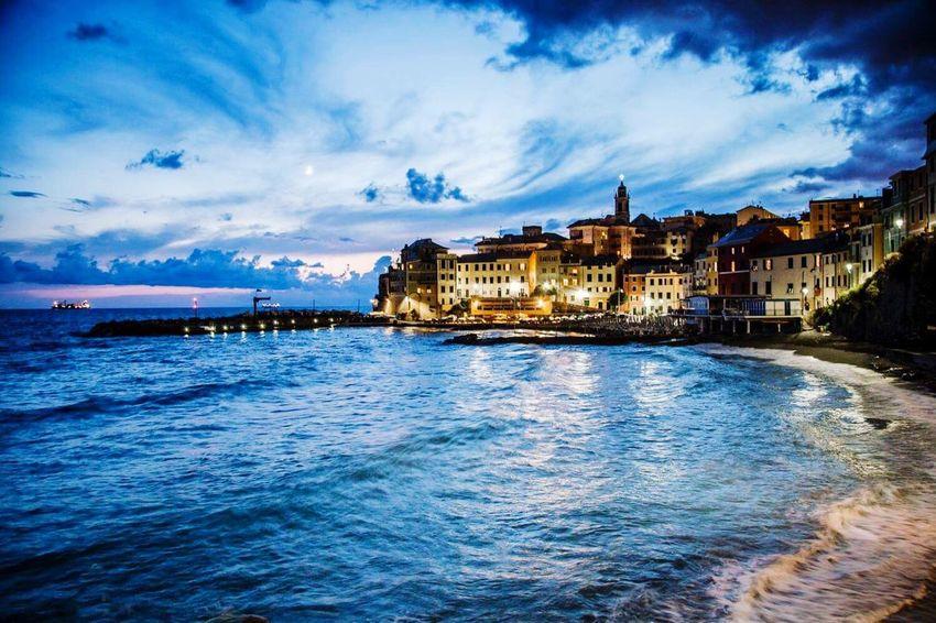 Vista serale di Bogliasco Bogliasco Genova Genoa Blue Sky Blue Wave Blue Bluesky Blue Hour Ora Blu Sea And Sky Seaporn Igersitalia Igersliguria Igersgenova Check This Out Enjoying Life Taking Photos