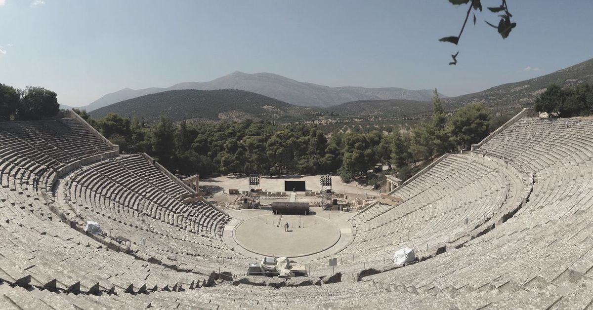Theater Panorama Traveling Tourism Grace Actors Historic Epidaurus