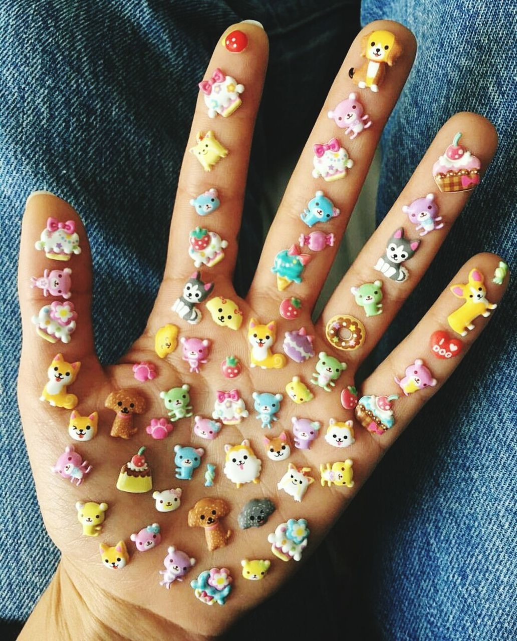 one person, real people, human finger, close-up, nail art, human body part, human hand, indoors, high angle view, nail polish, celebration, multi colored, day, freshness