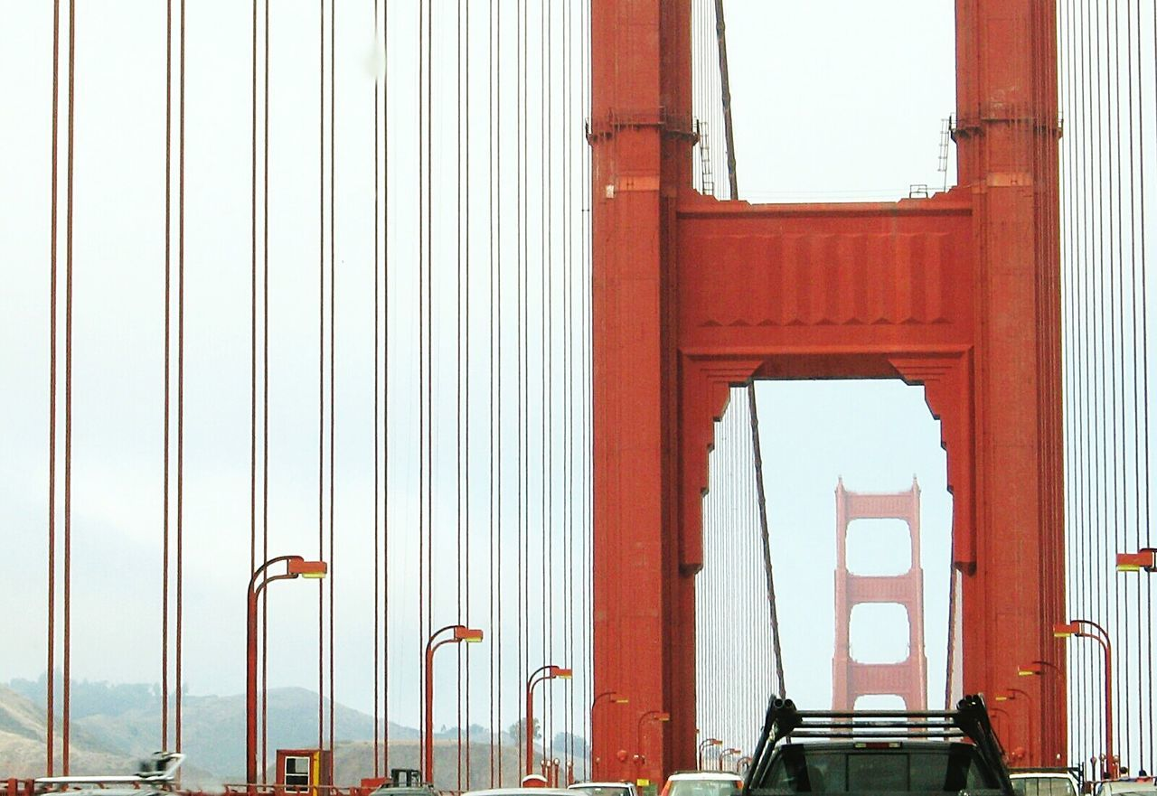 Minimalist Architecture Architecture Outdoors City Sky Built Structure Red Historic Foggy Day Golden Gate Bridge Driving