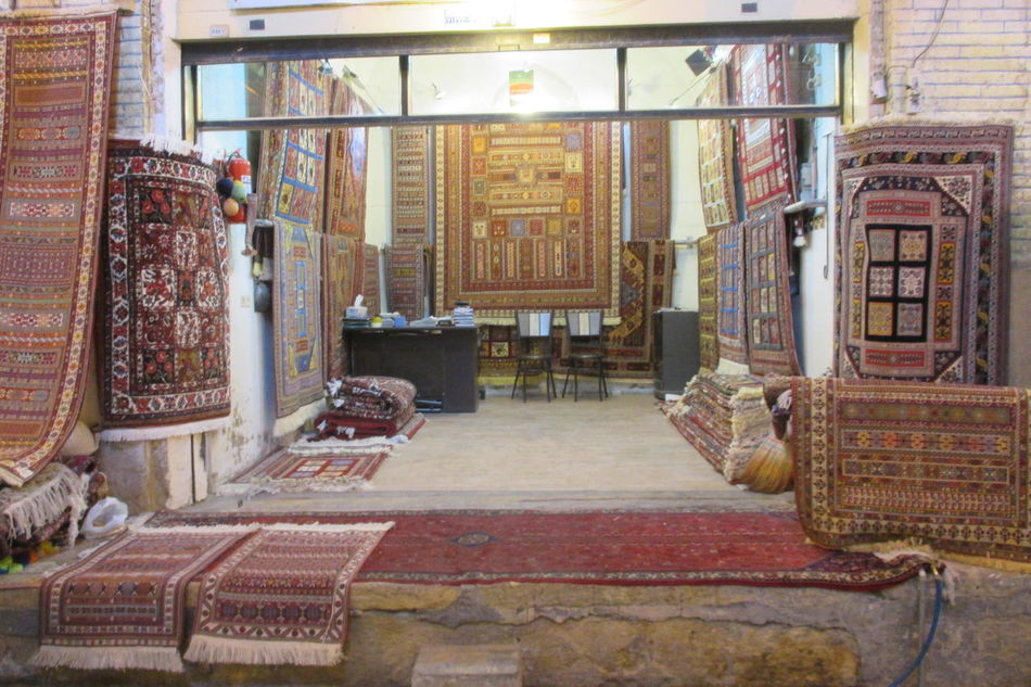 Carpet - Decor Carpet Market Carpet Shop Carpets Indoors  Old-fashioned Shiraz, Iran Travel Destinations