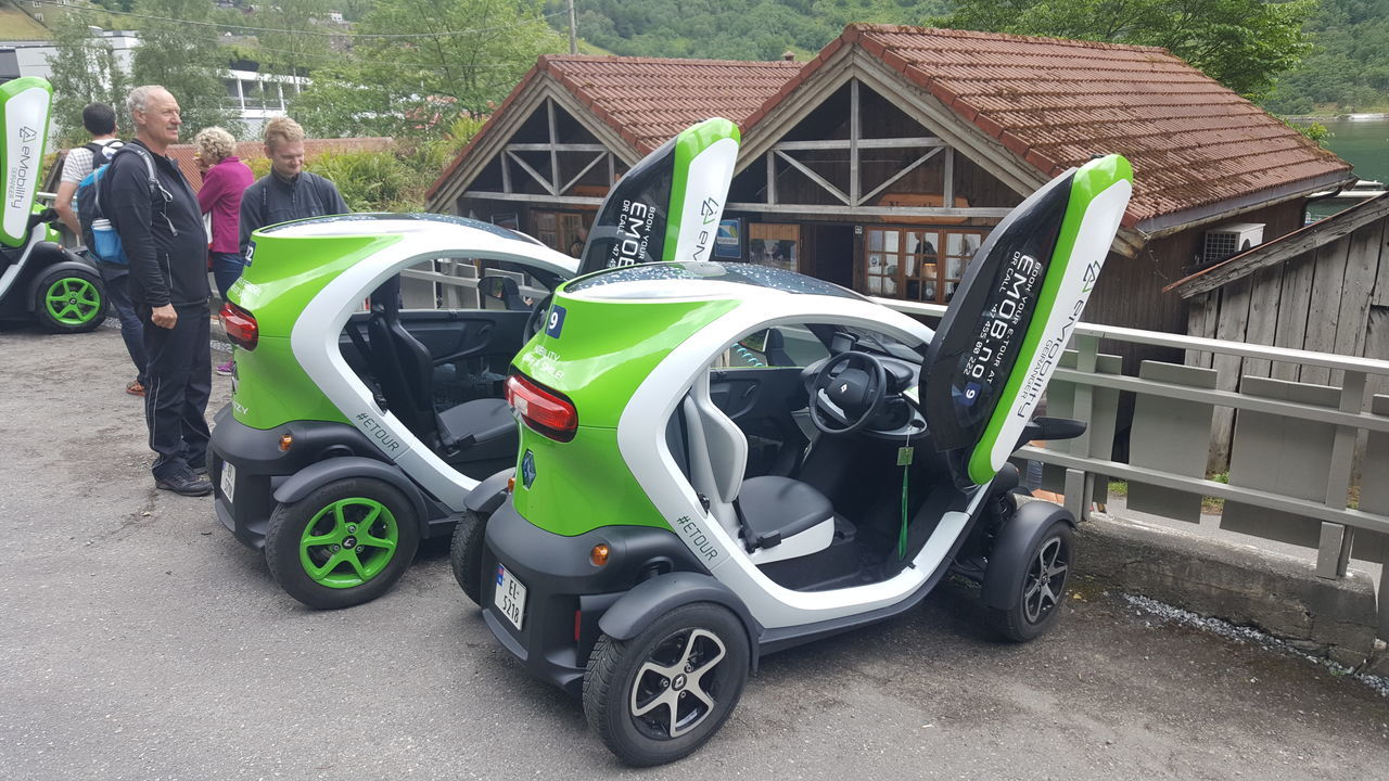 The Renault Twizy is a battery-powered 2 seat electric city car designed and marketed by Renault and manufactured in Valladolid, Spain. Legally classified in Europe as a heavy quadricycle (light quadricycle for the lower-powered Urban 45 model), the Twizy has a maximum range of 100 km (62 mi). The 2009 concept The Twizy debuted as a concept car at the 2009 Frankfurt Motor Show and was designed by Françoise Leboinne and Luciano Bove. In November 2010, Nissan announced a rebadged variant to the Twizy, called the New Mobility Concept, or NMC. In May 2011, Renault announced they would produce the Twizy and began taking reservations. In March 2012, the Twizy was released to the France market, followed a month later in the UK and several other European countries. Available in three models, starting at €6,990 up to €8,490 (in the UK: GB£6,990 to GB£7,400), the Twizy sales price does not include the battery pack, which is leased for a monthly fee that includes roadside assistance and a battery replacement guarantee. The Twizy was the top-selling plug-in electric vehicle in Europe during 2012. The milestone of 15,000 Twizys sold worldwide was achieved in April 2015. As of May 2016, the European region is the top selling market with over 17,000 units sold, led by Germany (4,404), France (4,048) and Italy (2,696). Battery Car Carporn Cars City Cars Concept Concept Car Ecofriendly Electric Electric Car Energy Eye4photography  Heavy Hidden Gems  Mobility Quadricycle Renault Renault Twizy Samsung Technic Twizy Urban Vehicle Vehicles Zero Emission