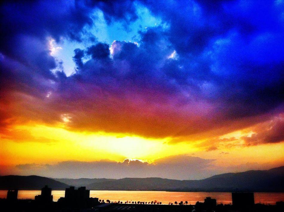 Japan Nagano Suwa Lake Suwa Lake Sky Sky And Clouds Clouds And Sky Clouds Sunset Nature Beauty In Nature