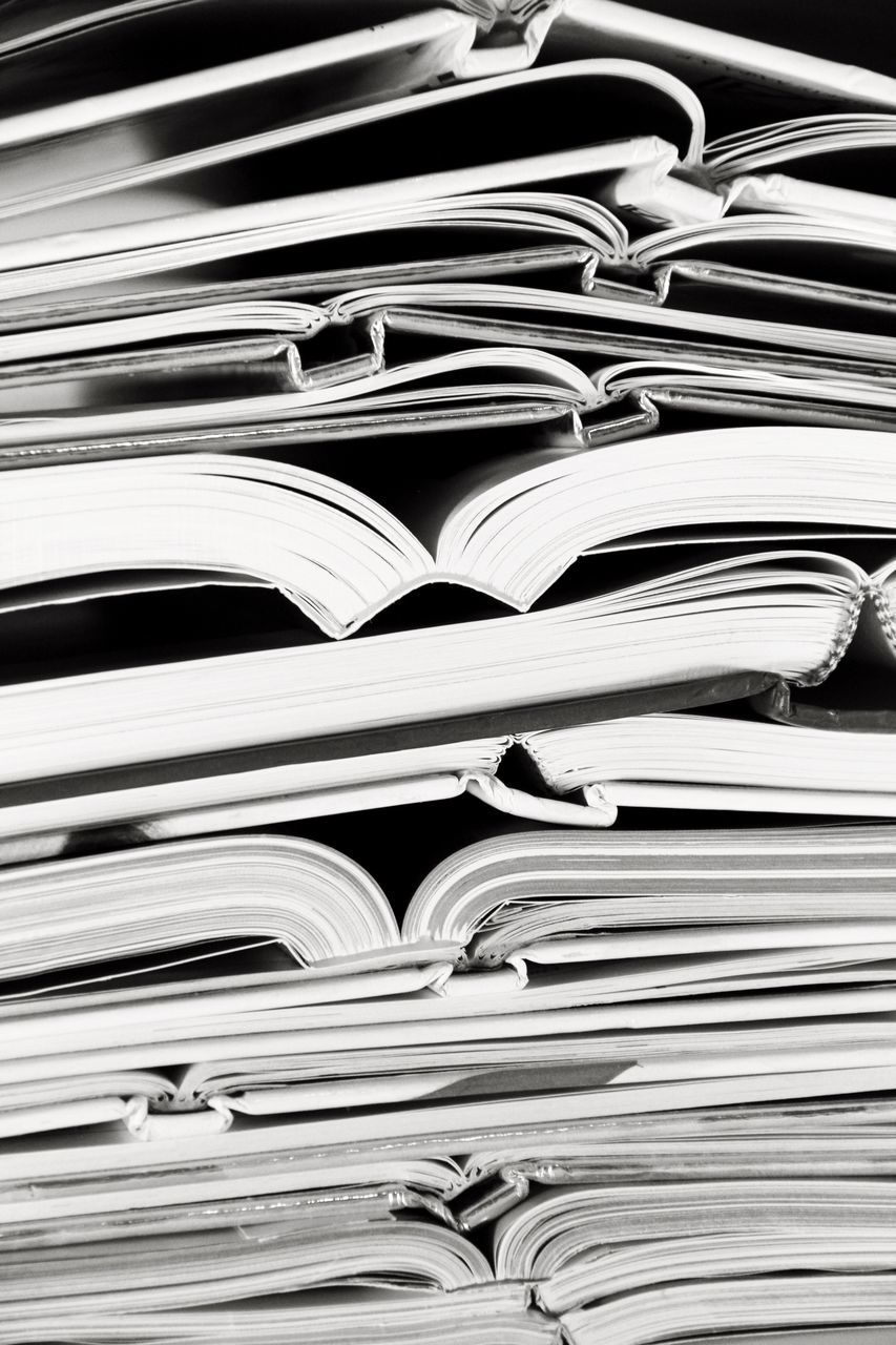 stack, book, large group of objects, data, education, learning, page, full frame, backgrounds, information medium, literature, the media, library, research, paper, no people, business, close-up, indoors, archives, bookshelf, day