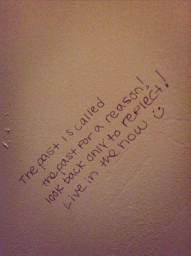 Positive Thinking On A Bathroom Stall