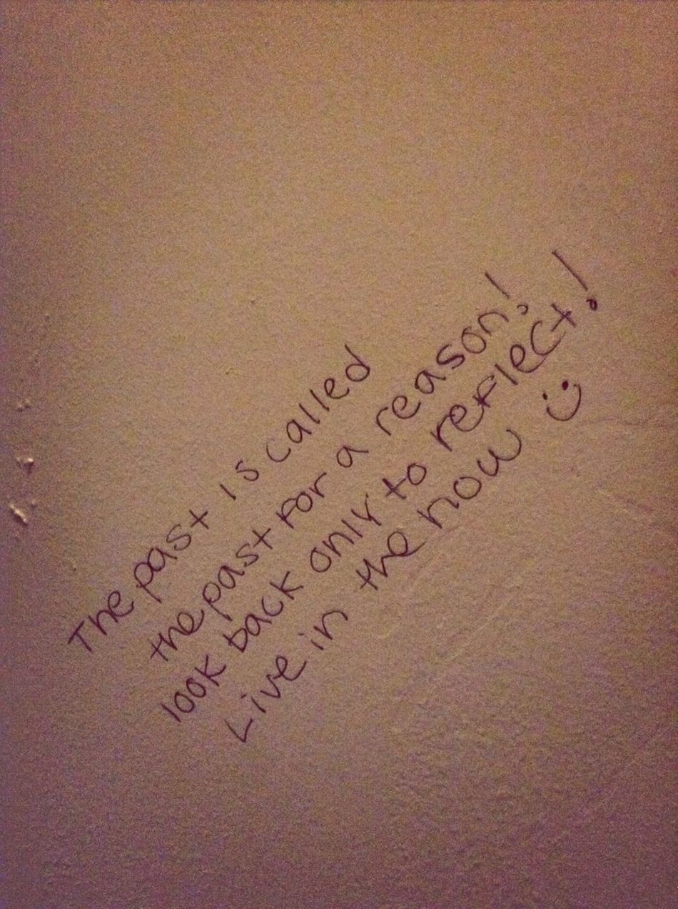 Positive Thinking On A Bathroom Stall