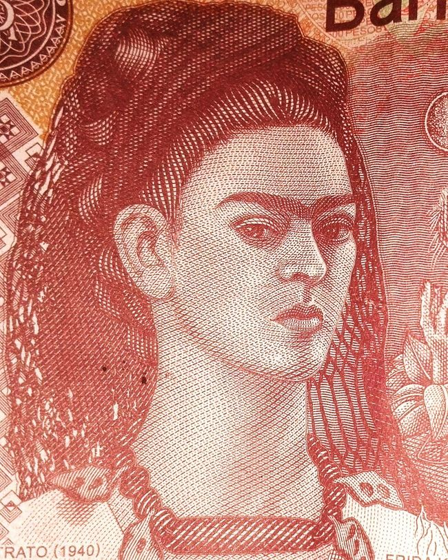 Indoors  Close-up Extreme Close-up Full Frame frida Kahlo artist mexico
