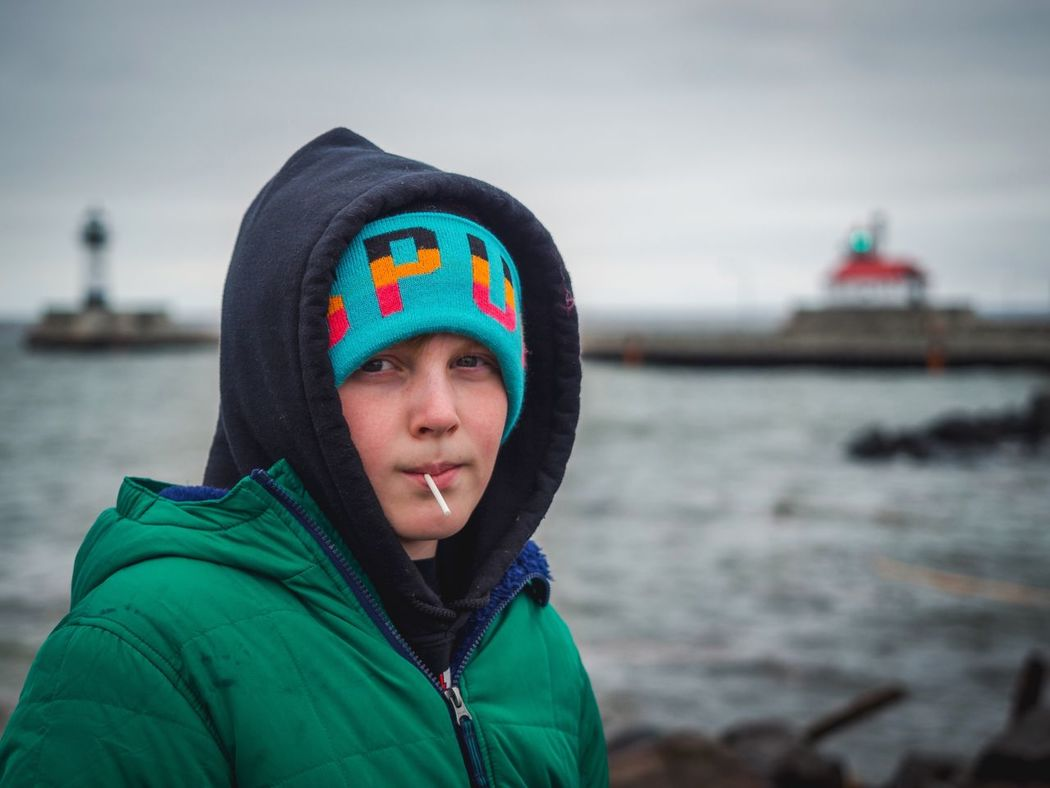 Canal Park in Duluth, MN on a cold afternoon. Portrait Portraits Portrait Photography Portrait Of America Portraiture PortraitPhotography Portraitpage Duluth Duluth Minnesota USA Canal Park Cold Lake Superior Great Lakes Bundled Up Teenager Teenagers  Lighthouse Lighthouse_lovers Lighthouses Lighthouse_captures Light House The Portraitist - 2016 EyeEm Awards