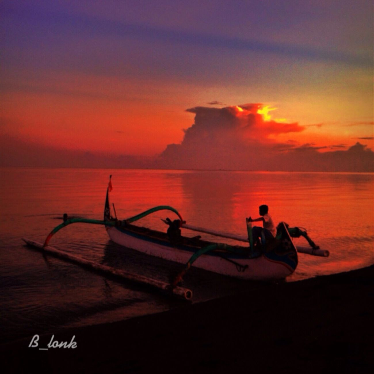 Red Sunset . . . Clouds And Sky Sunsets Sunset Silhouettes Popular Photos Landscape_Collection IPhone Photography IPhoneographer EyeEm Indonesia EyeEm Nature Lover EyeEm Best Shots