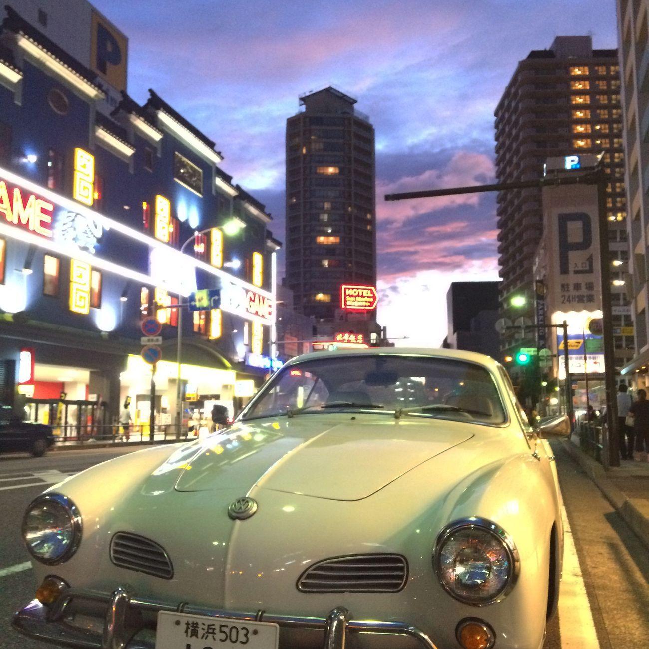何気なく駐車してたフォルクスワーゲンがすごくレトロかわいい♡ Photography Japan Nightphotography Skylovers Magic Hour Today'sカメラ写ん歩♡ Volkswagen
