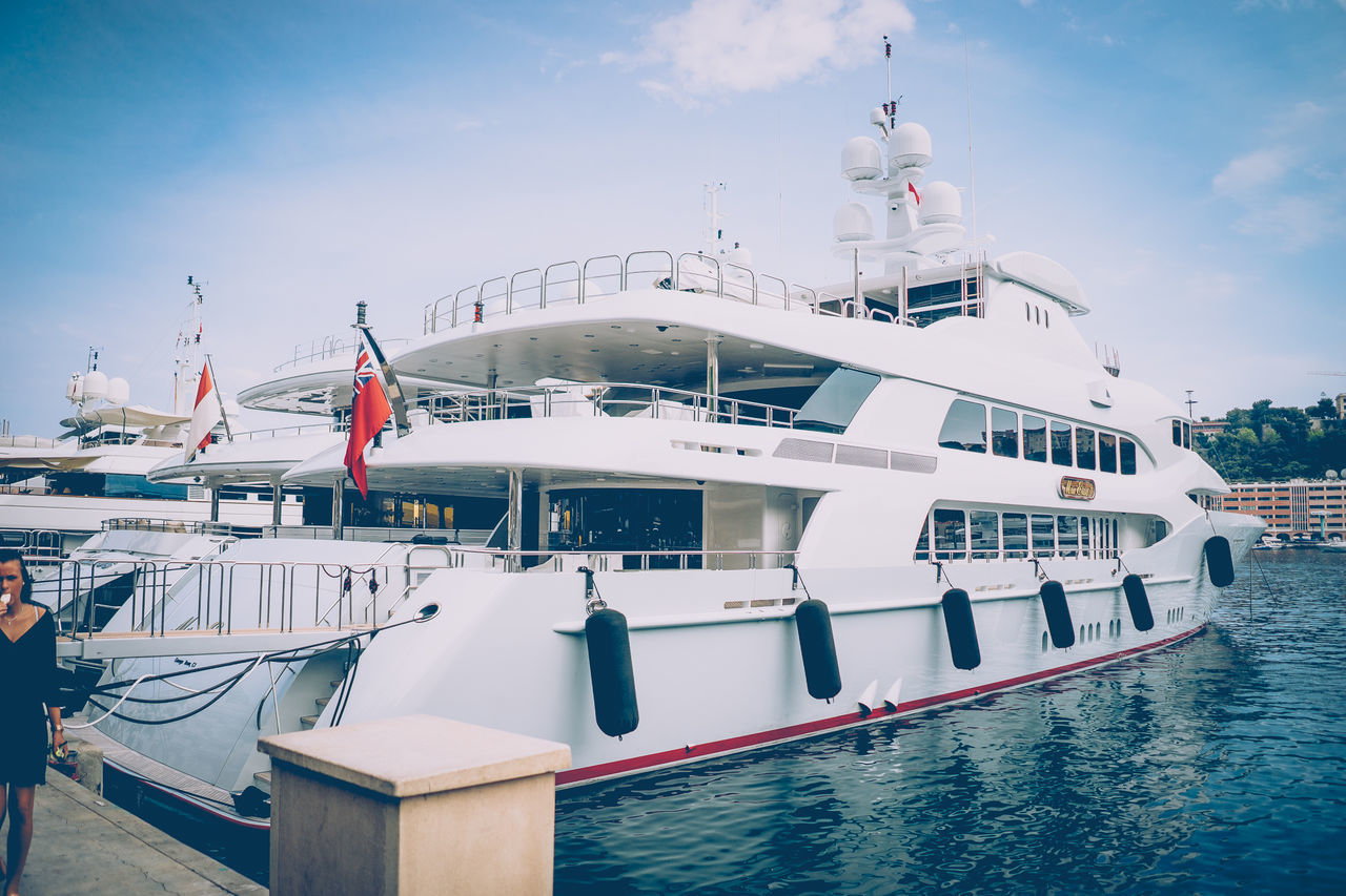 Boat Deck Cruise Ship Day Monaco Nautical Vessel No People Outdoors Travel Vacations Yacht Yachting