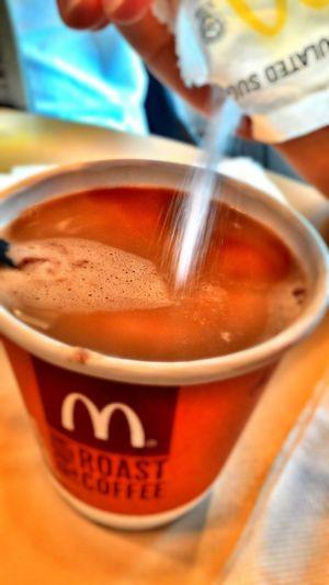 Morning Coffee Macdonalds Coffees Latte Tea Creamer Tasty Sweet Aroma Taste