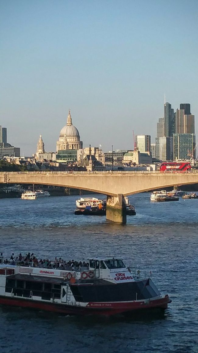 Architecture Building Exterior Built Structure Nautical Vessel Water Transportation City Boat Mode Of Transport River Waterfront Dome Travel Destinations City Life Clear Sky Tourism Famous Place Outdoors Riverbank Sky LONDON❤ Landscape_Collection St Paul's Cathedral London Bus