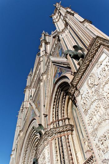 Orvieto, Italy Travel Travel Photography Traveling Architecture Blue Building Exterior Built Structure City Clear Sky Day Italian Italy Low Angle View No People Orvieto Outdoors Place Of Worship Religion Sky Spirituality Travel Destinations