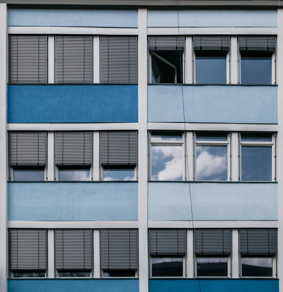 Littlecloudreflection Architectural Detail Architectural Feature Architecture Architecture_collection Berlin Photography Blue Building Exterior Built Structure City Cityexplorer Close-up Cloud - Sky Façade Full Frame Minimalism Minimalist Architecture No People Outdoors Reflection Sky Urban Geometry Urbanphotography Window HuaweiP9 Huaweiphotography