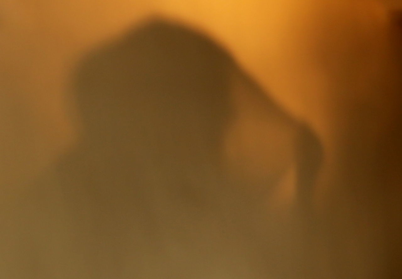 Close-up Day Indoors  Non Recognizable People One Person People Real People Shadow Play Shadow Selfie Veiled Woman Women Around The World Women Around The World