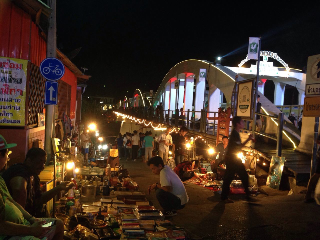 A night walk in Lampang Large Group Of People Night Illuminated Real People Architecture Building Exterior City Outdoors Crowd Sky People Lampang | Thailand March Tadaa Community