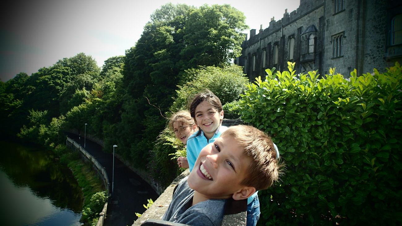 Having fun at Kilkenny castle Fun Cousins  Castle Kilkenny Kilkenny Castle Ireland