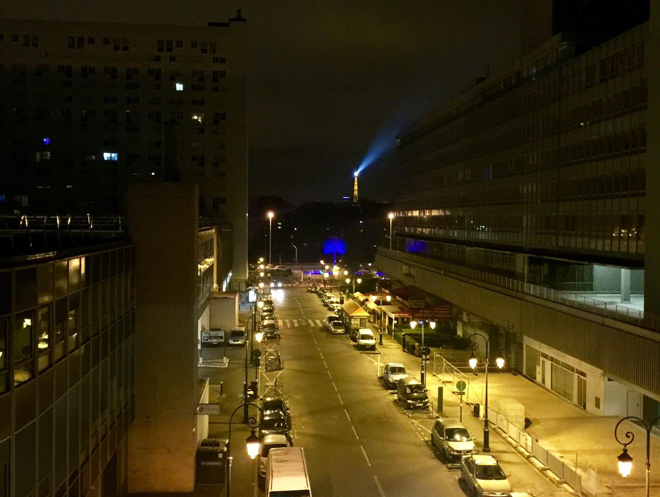 Illuminated Night City Architecture Building Exterior Built Structure Road Outdoors No People Sky Eiffel Tower