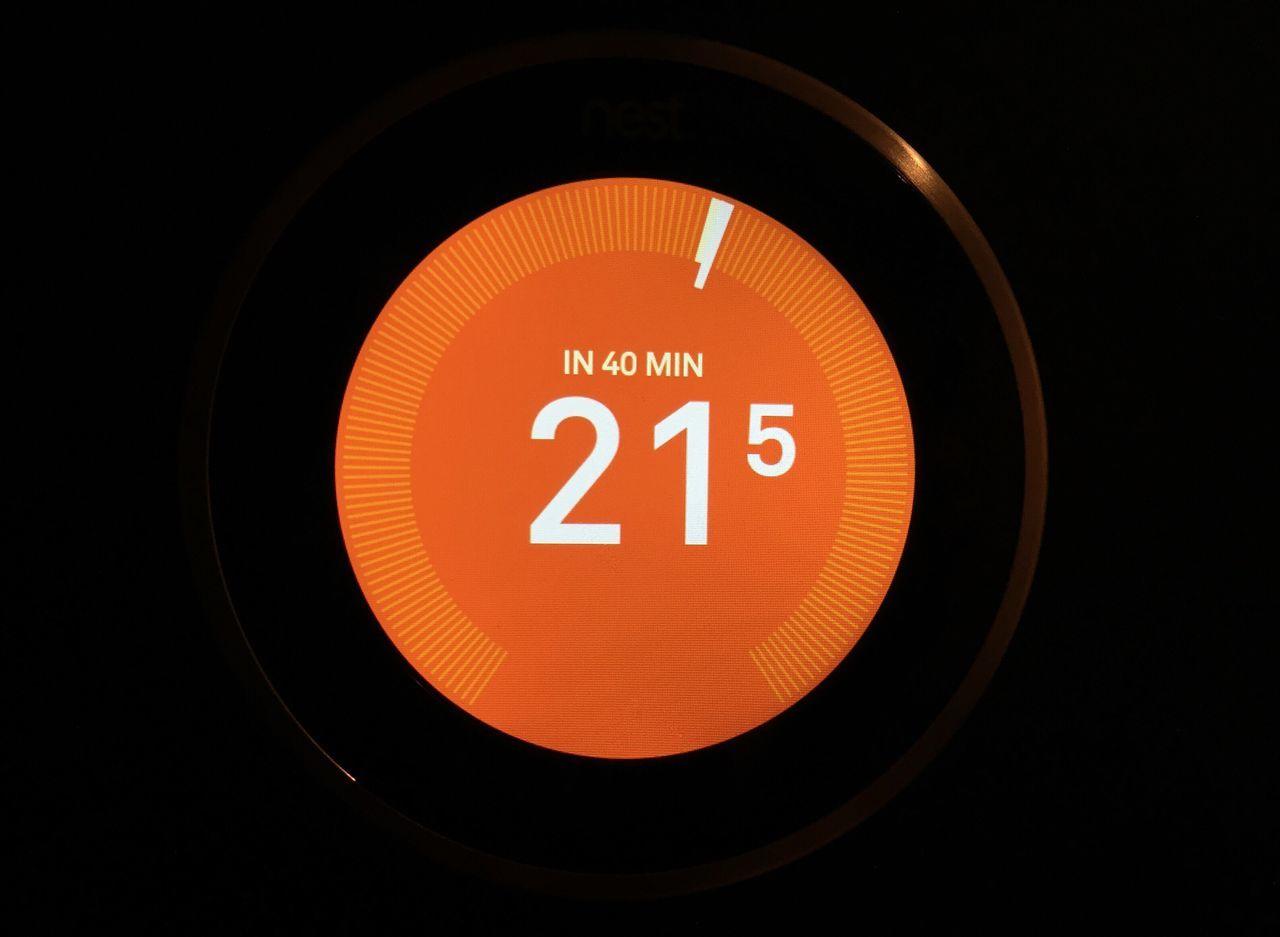 Close Up Technology Black Background Close-up Technology High Tech Temperature Heating Smart Smart Home Gadget