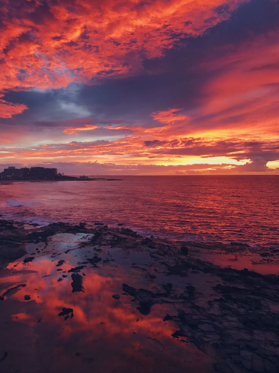 Magical sunrise Sunset Sea Scenics Beauty In Nature Water Tranquility Tranquil Scene Nature Horizon Over Water Sky Orange Color Idyllic Cloud - Sky No People Outdoors Beach Day Sky And Clouds Clouds And Sky Australia Beach Life Beachphotography Beautiful Sun Sunrise