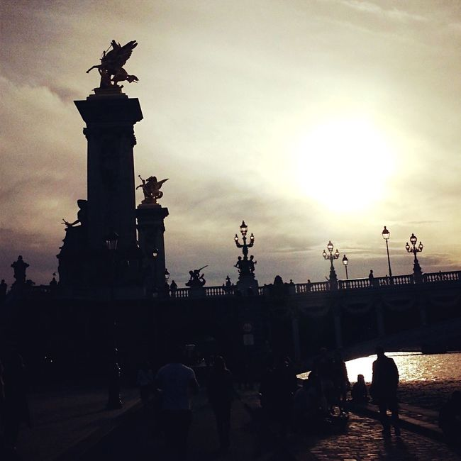 Paris Paris, France  France Sun Sunset Bridge PontAlexanderIII Pontalexandreiii Laseine River Riverside ParisByNight Love French Frenchie Parisian Cliché ParisianLifestyle