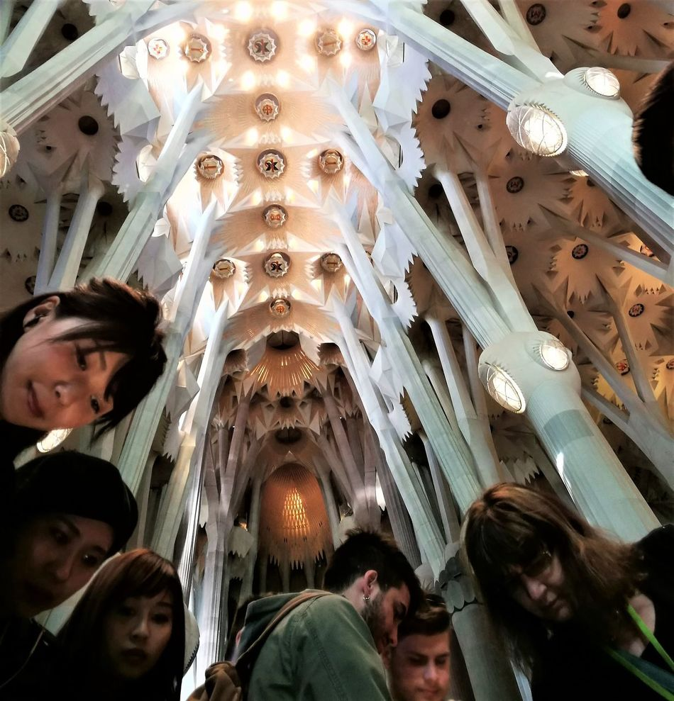 Architecture Ceiling Day Gaudì Architecture Work Indoors  Low Angle View Peoples Of The World Point Of View Can Be Magic Sagradafamilia Sagradafamiliachurch Tourism Travel Travel Destinations