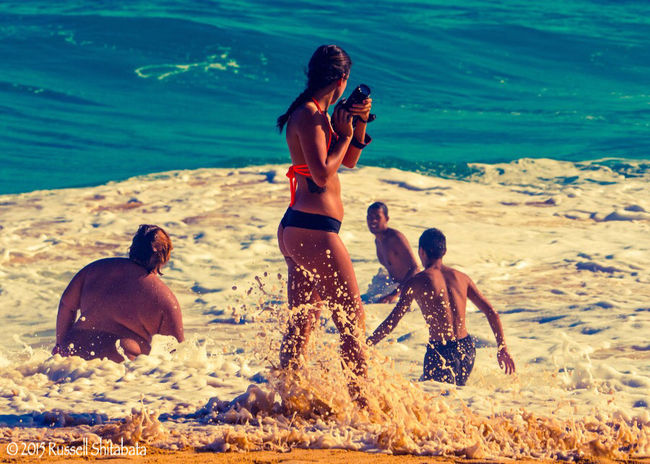 Photographer at Work Hawaii Life Is A Beach Summer Waves Wave Moment Moments Beachphotography Beach Photographer