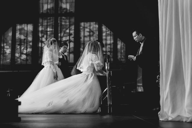 The couples Indoors  Spirituality Wedding Wedding Photography EyeEm Best Shots Open Edit Church Monochrome Photography Portrait EyeEm Best Shots - Black + White Black And White Blackandwhite Fashion EyeEm Gallery Weddings Around The World
