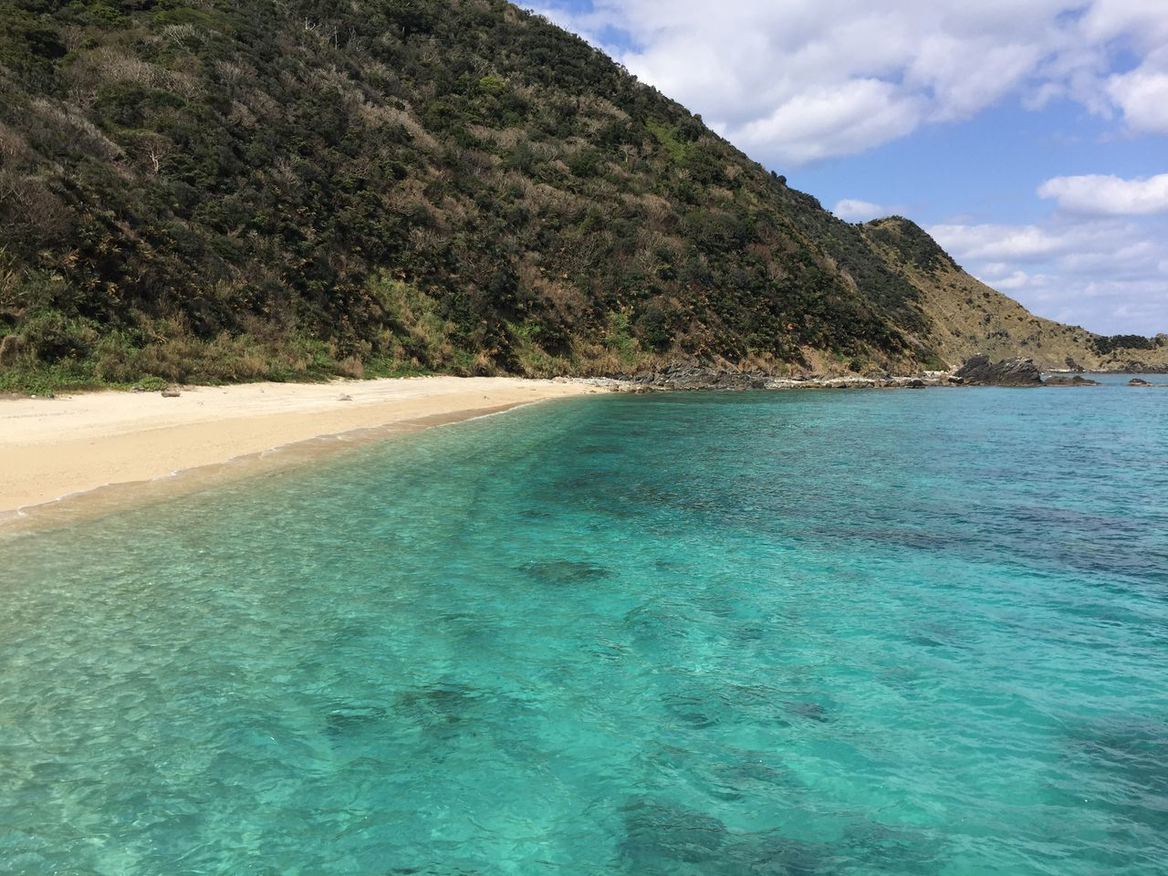 Sea Beach Scenics Beauty In Nature Nature Water Idyllic Travel Destinations Sky Tranquil Scene Outdoors No People Tranquility Sand Day Mountain Landscape Tree Turquoise in Amami Island