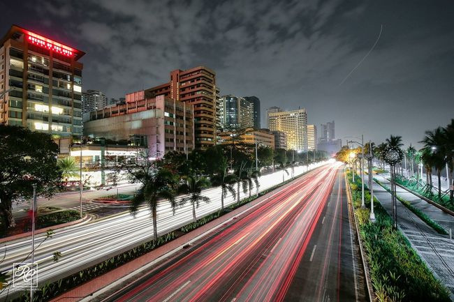 Nightphotography Cityscape Light Trails