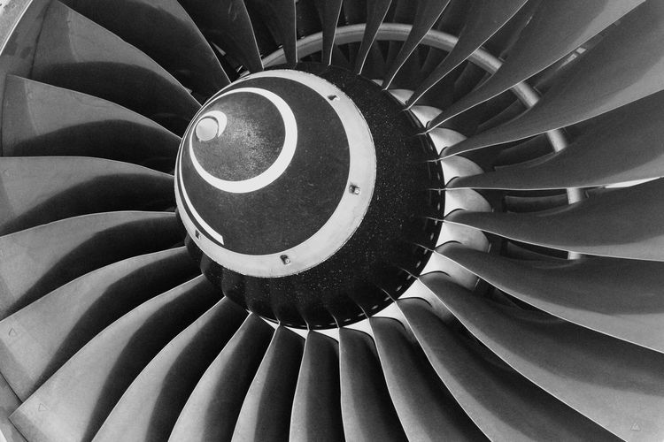 Airplane propeller travel adventure flying Close-up Industry Spiral No People Aerospace Industry Day