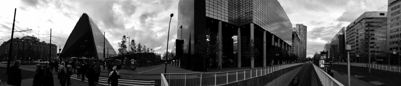 Skyline Rotterdam Centraal Station Centraal Station Rotterdam Black And White Monochrome (c) 2016 Shangita Bose All Rights Reserved Architecture Perspective From My Point Of View Panorama Delftse Poort Beautifully Organized Embrace Urban Life Adapted To The City