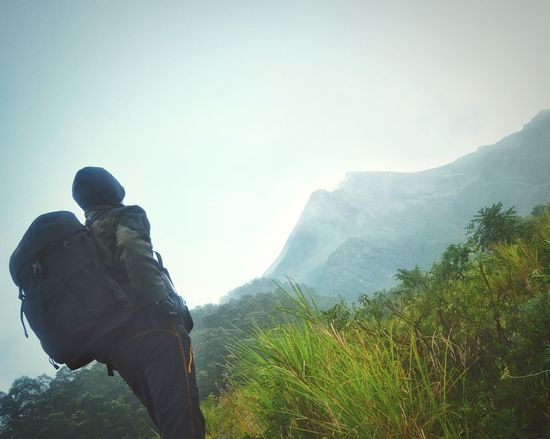 Adults Only One Person People Adult One Man Only Outdoors Nature Mountain Men Only Men Beauty In Nature Mountain Track Misty Morning Misty Mountains  Adventure Nature Hiking Landscape Bacpacker Wanderlust Wanderer