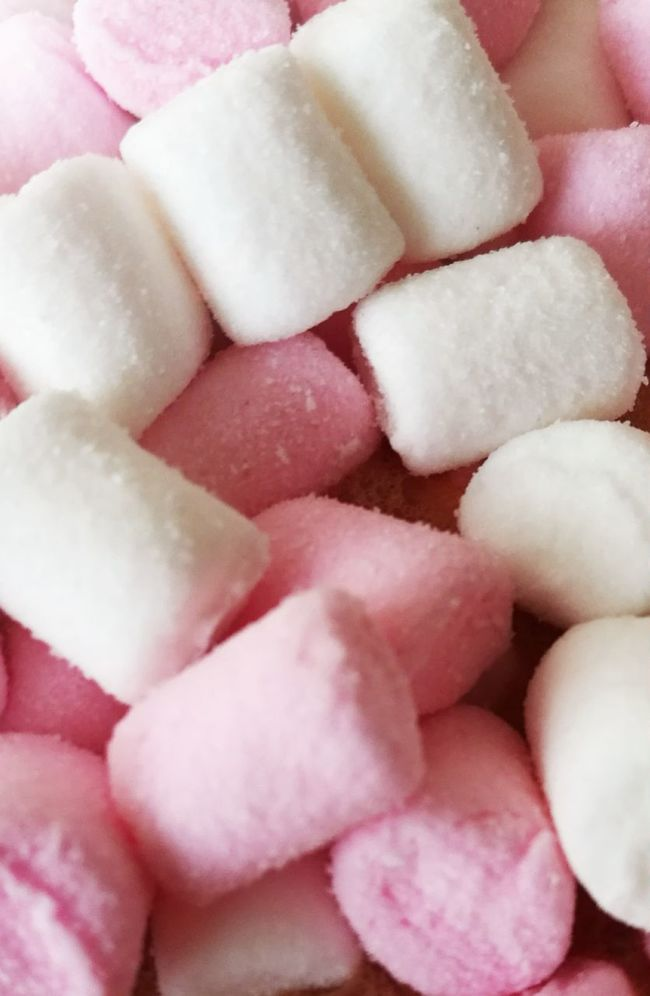 Yum Yum Marshmallows Flumps Pink White Sweets Sweeties Soft
