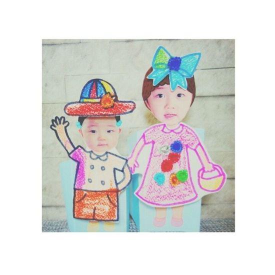 Sana ganito ka-cute mga anak ko sa future hihi Annyeong Qtp2t