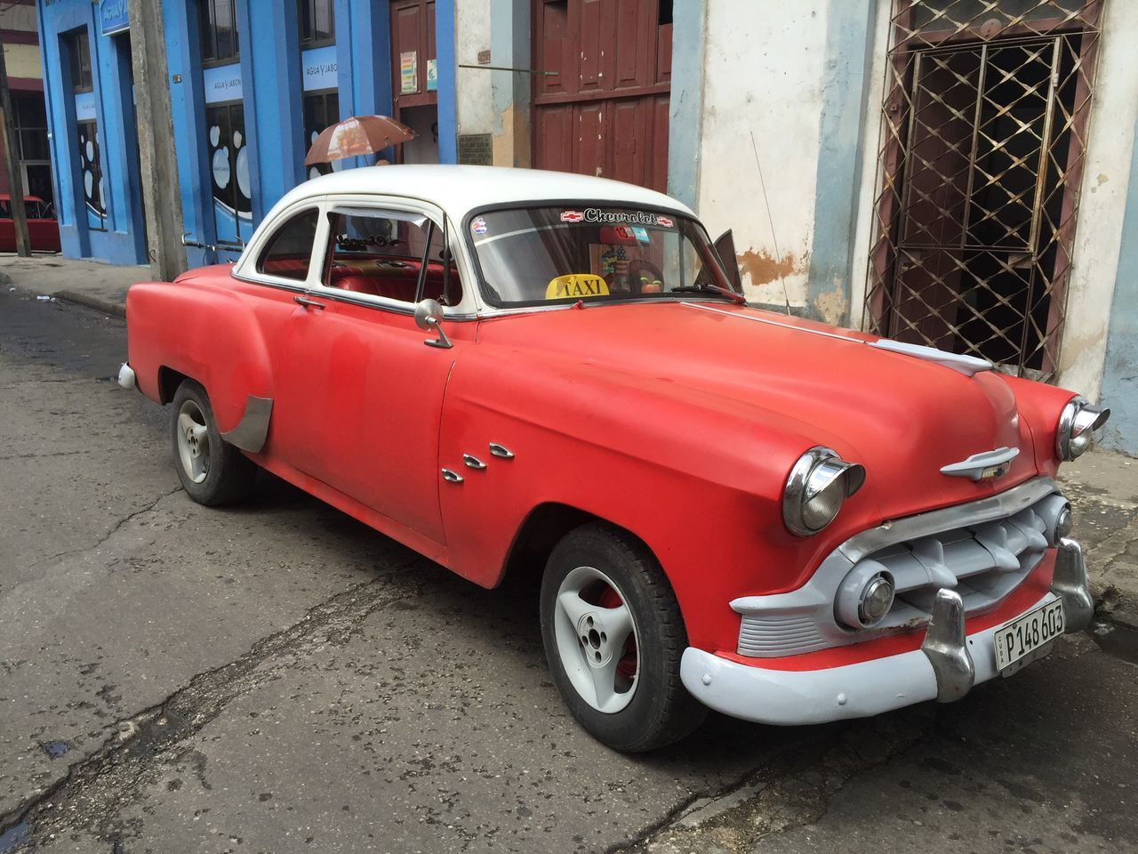Outdoors Cuba Collection Cuban Cars Cuba Car Cuba Cuban Taxi Red Car Oldtimer Classic Car