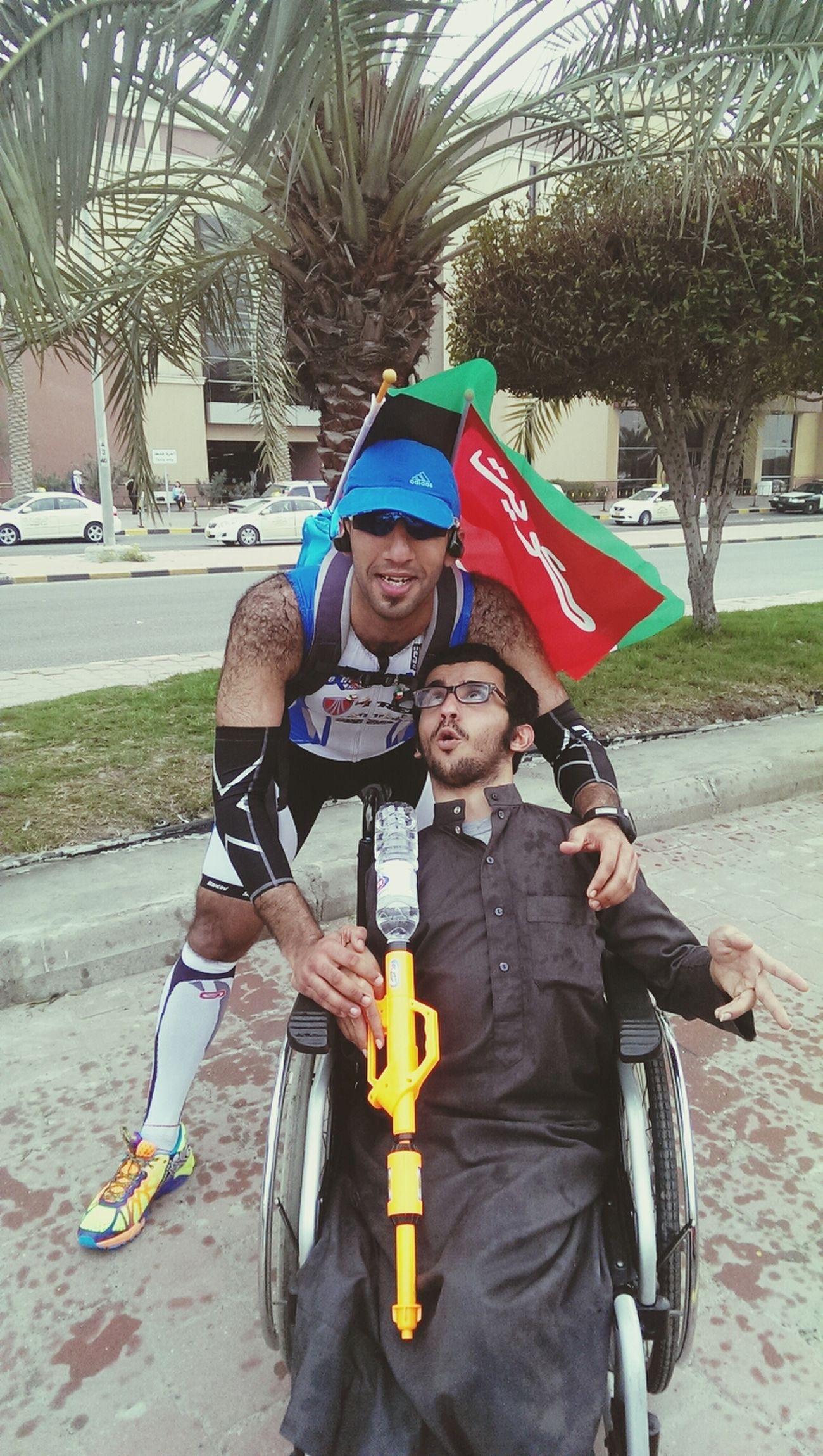Wirh chairman 25 February National Day Taking Photos Kuwait City Running
