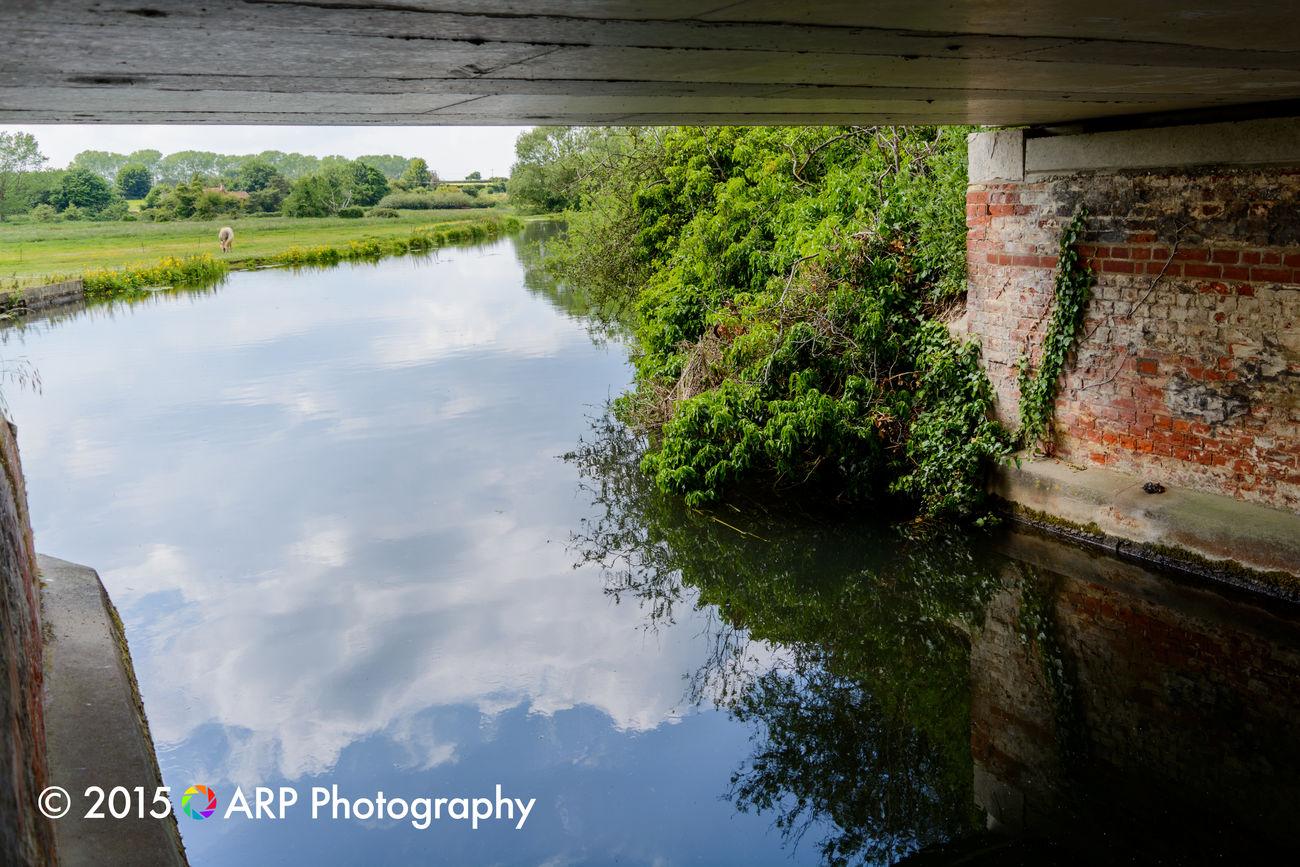 Under the bridge Water Reflections Reflection Sky EyeEm Best Shots - Landscape Landscape_Collection Landscape_photography Bridge River Check This Out