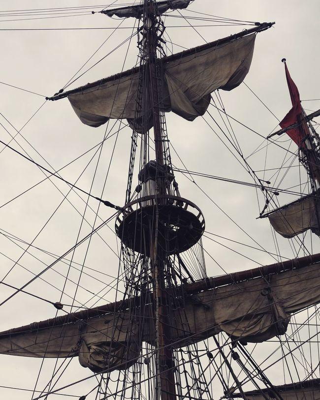 Russian Replica pirate ship in Swanage! Pirateship  Swanagepiratefestival Pirate Mast