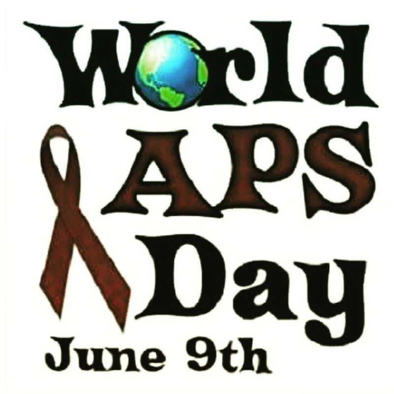 Don't forget, world Aps / Antiphospholipidsyndrome day is June 9th!