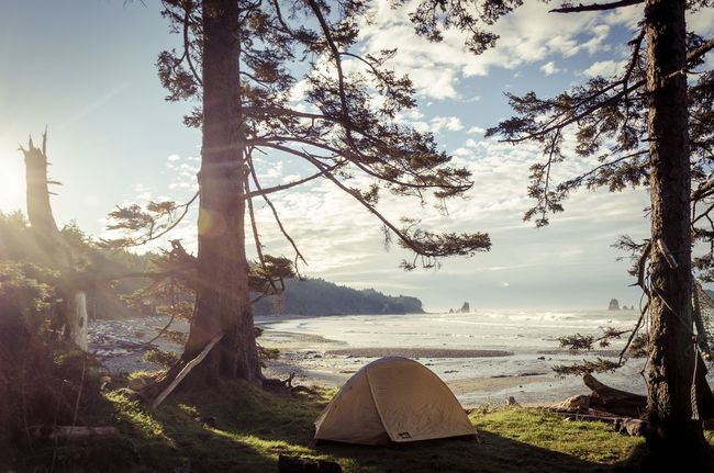 Million dollar view PNW Olympicnationalpark Wilderness Camping Ocean Nature Rei Washington Beach