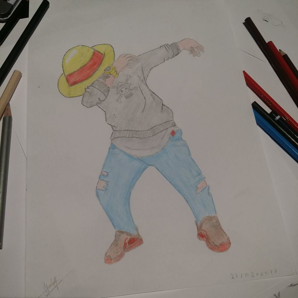 Luffy OnePiece Colors Full Length One Person People One Man Only Day Image Dabs Good Chapeaudepaille Pirates Manga Japan Belgium Turkish