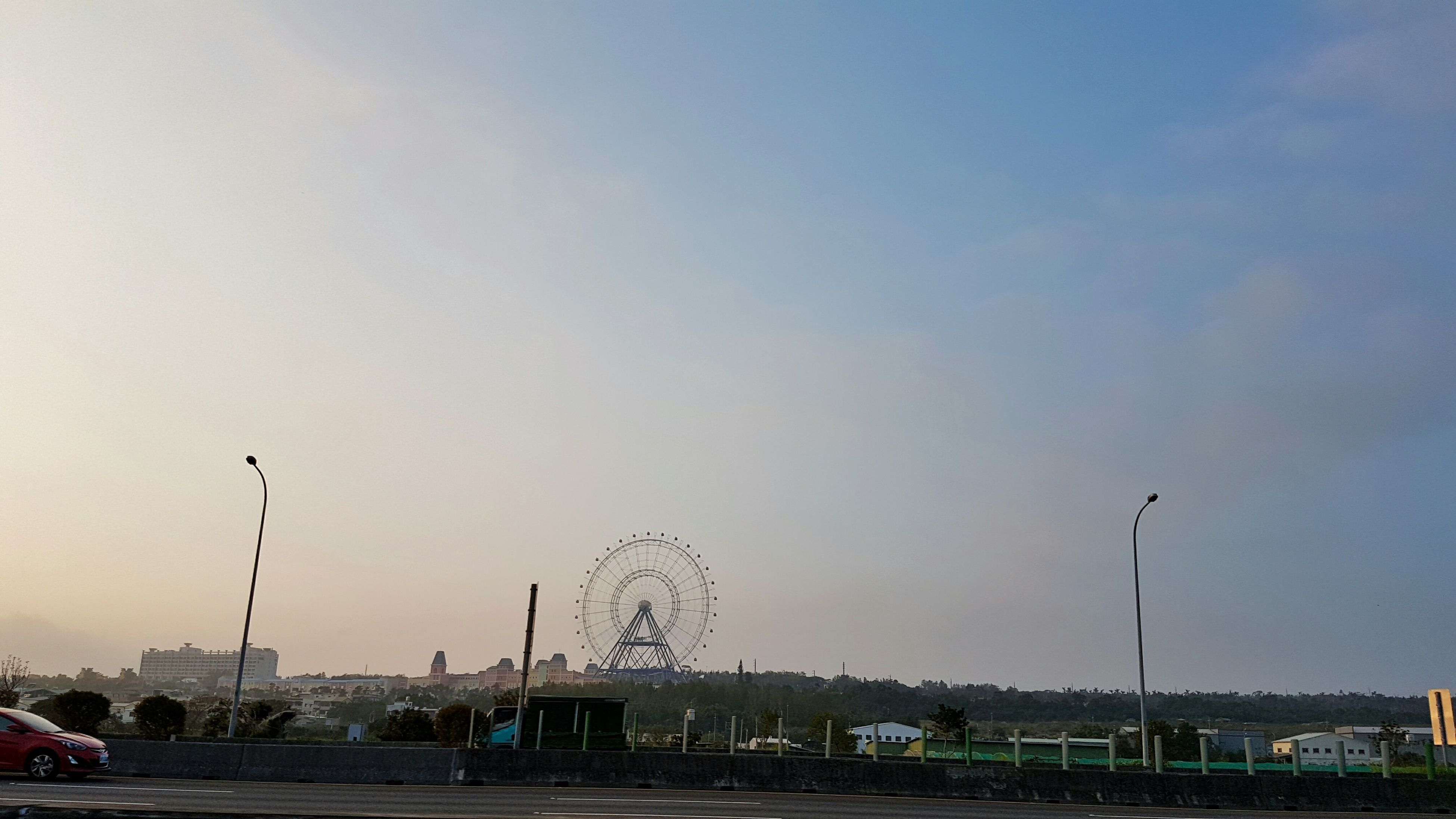 sky, outdoors, no people, nature, architecture, amusement park, day